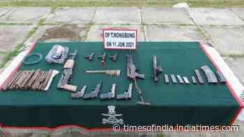Huge cache of arms, ammunition recovered in Manipur's Imphal