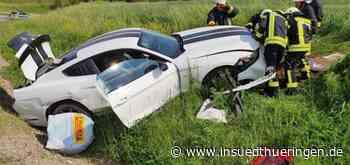 Autos krachen zusammen - Zwei Schwerletzte bei Unfall auf B89 - inSüdthüringen