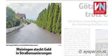 Meiningen steckt Geld in Straßensanierungen - Vorarlberger Nachrichten   VN.AT
