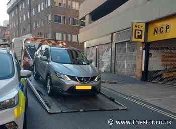 Car seized after driver blocks entrance to busy Sheffield car park, trapping motorists inside - The Star