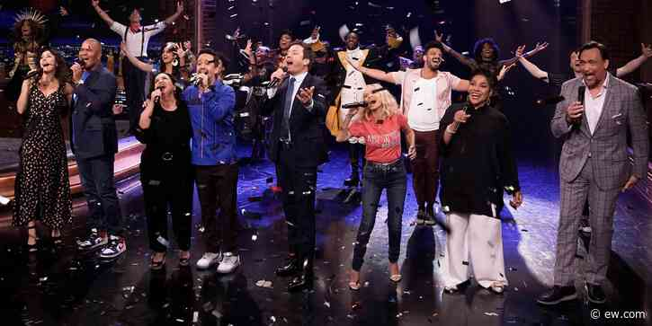 Jimmy Fallon and Lin-Manuel Miranda celebrate return of Broadway with full-scale musical - Entertainment Weekly News