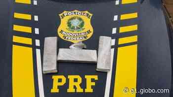 PRF apreende 2kg de maconha em ônibus na BR-116 em Leopoldina - G1