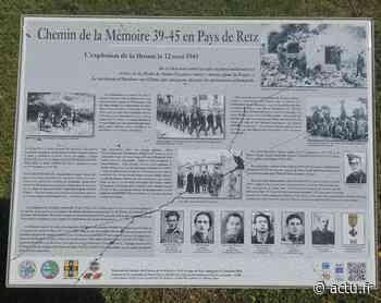 Région de Pornic : un panneau commémoratif d'un drame de la Seconde Guerre mondiale vandalisé « à coup de marteau » - actu.fr
