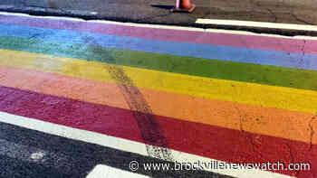 Kemptville Pride crosswalk vandalized, police say - brockvillenewswatch.com