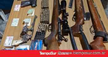 Encuentran armas en una casa - Tiempo Sur