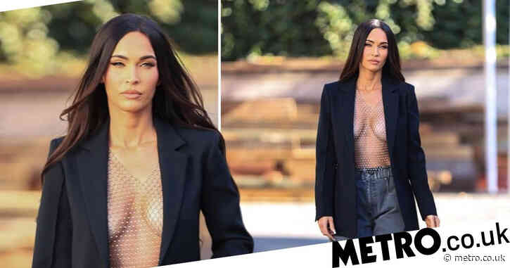 Megan Fox steps up her street style as she leaves photoshoot in entirely see-through mesh top