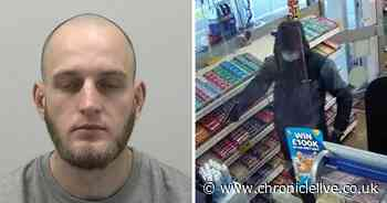 Gun-wielding robber ran off when fuel station worker chased him with step stool