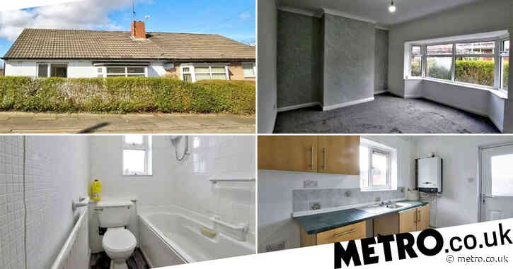 Two-bedroom bungalow up for auction with a reserve price of £1