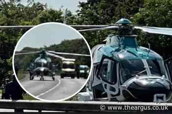 Chichester A27 crash: Air ambulance and paramedics called