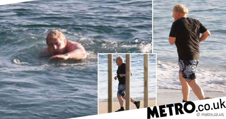 Boris spotted swimming off Cornwall coast ahead of crunch G7 and EU trade talks