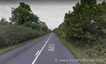 Casualty taken to hospital after crash over Herefordshire border