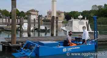 Casier, ripuliti dai rifiuti porticciolo e acque del Sile con la nuova motobarca di Contarina - Oggi Treviso