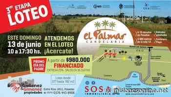 Loteo El Palmar de Candelaria: 25% de entrega y hasta 36 cuotas en pesos - Misiones OnLine