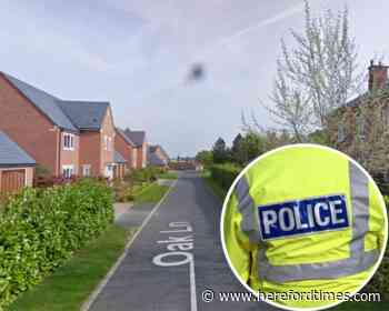 Flare left outside Herefordshire house after failed letterbox attempt