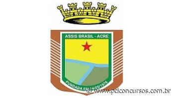 Prefeitura de Assis Brasil - AC prorroga inscrições de Processo Seletivo - PCI Concursos