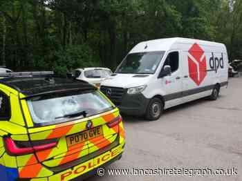 Stolen DPD van tracked in Rivington