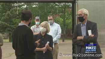 Gov. Evers Tours Sustainable Food Program at Northland College - FOX 21 Online