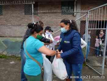 Damnificados de incendio en el barrio Santa Ana de Villamaría recibieron ayudas - Eje21