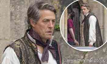 Hugh Grant is seen for the first time on the set of Dungeons & Dragons in Somerset