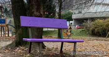 A Vipiteno la prima panchina viola della gentilezza altoatesina - Alto Adige