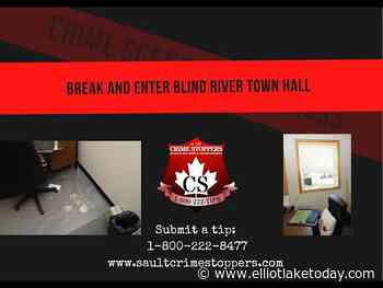 Video released of suspect in Blind River Town Hall theft - ElliotLakeToday.com