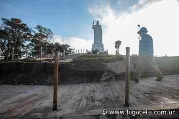 San Javier: cómo continúan los trabajos en el Cristo Bendicente - Actualidad   La Gaceta - LA GACETA