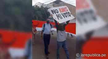 Simpatizantes de Pedro Castillo realizan marcha en Piura - LaRepública.pe