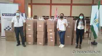 Piura: La Huaca recibe equipos de bioseguridad para evitar contagios   LRND - LaRepública.pe