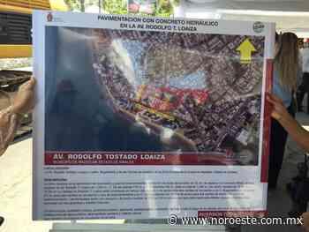 Entra a renovación total avenida de la Zona Dorada, en Mazatlán - Noroeste
