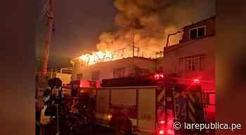 Voraz incendio destruye vivienda de adultos mayores en Tacna - LaRepública.pe