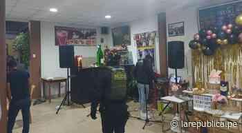 Tacna: intervienen a 23 infractores que participaban en fiesta de cumpleaños - LaRepública.pe