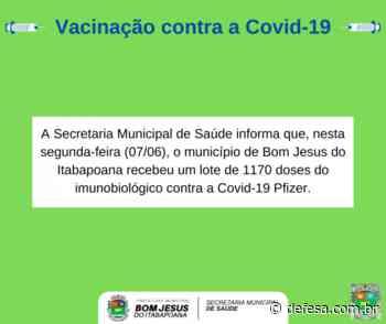 Bom Jesus do Itabapoana recebe 1170 doses da vacina contra a Covid-19 da Pfizer - Defesa - Agência de Notícias