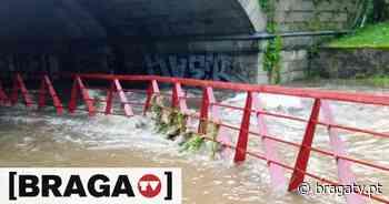 Rio Este em Braga galgou margens devido à chuva intensa - Braga TV