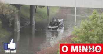 Cidade de Braga inundada em vários pontos com carros retidos por causa da chuva - O MINHO