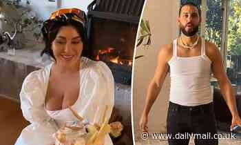 Married At First Sight's Martha Kalifatidis wears a WEDDING DRESS  as she celebrates 33rd birthday