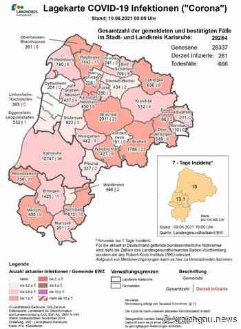 Corona-Zahlen in der Region (Stand 10. Juni): Coronavirus in Bretten, dem Landkreis Karlsruhe sowie Rhein-Neckar und Enzkreis - Bretten - kraichgau.news