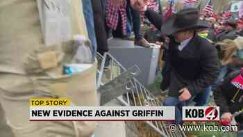 New images show Couy Griffin scaling barricade during Capitol riots - KOB