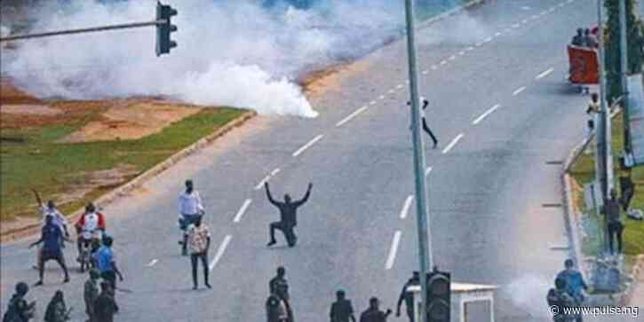 June 12: Police disperse protesters with tear gas in Calabar