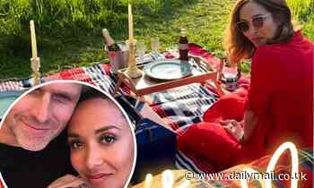 Myleene Klass is treated to a romantic picnic  byfiancé Simon Motson after an 'emotional week'