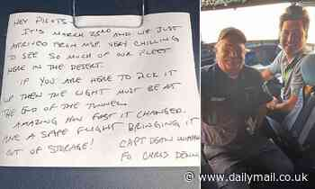 Delta pilot discovers 435-day old note inside an airplane written by fellow airman