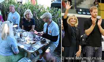 Jill Biden touts great work of Prince Harry's Invictus Games when she meets with British veterans