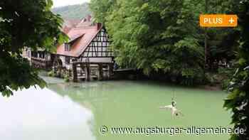 Schweben über dem Blautopf - wie ein Wasservogel - Augsburger Allgemeine