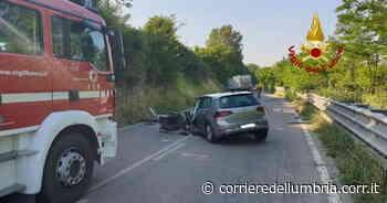 Umbertide: scontro tra auto e furgone, tre feriti. Incidente stradale sulla statale Tiberina all'altezza di Pierantonio - Corriere dell'Umbria
