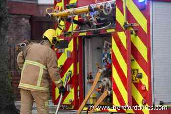 Firefighters attended Hereford property