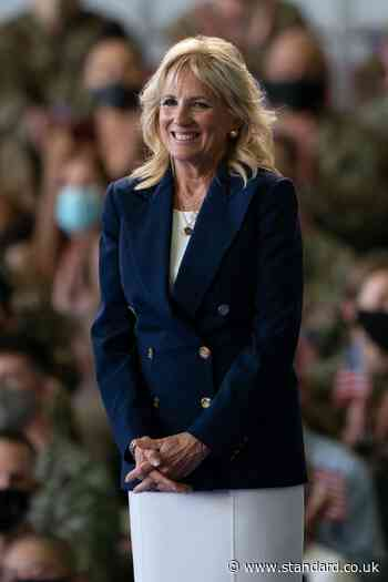 Surfing has helped veterans smile again, Jill Biden told
