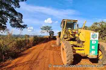 Governo executa patrolamento na RO-383 que interliga Alta Floresta ao distrito de Nova Gease - Rondônia Dinâmica