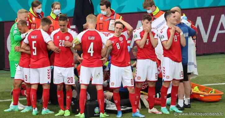 """Malore in campo per Christian Eriksen: a terra privo di sensi, rianimato sul terreno di gioco. L'Uefa: """"Il calciatore è in condizioni stabili"""""""