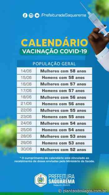 Prefeitura de Saquarema divulga novo calendário de vacinação - Plantao dos Lagos