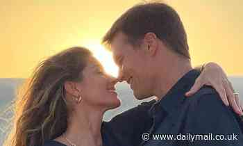 Gisele Bundchen calls Tom Brady her 'eternal boyfriend' as she shares a loved up snap at sunset