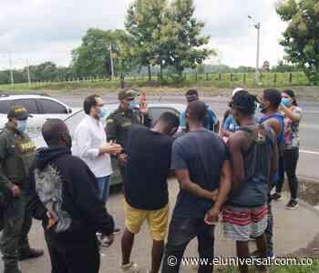 Detienen a 72 migrantes de Haití y Senegal en Montería - El Universal - Colombia